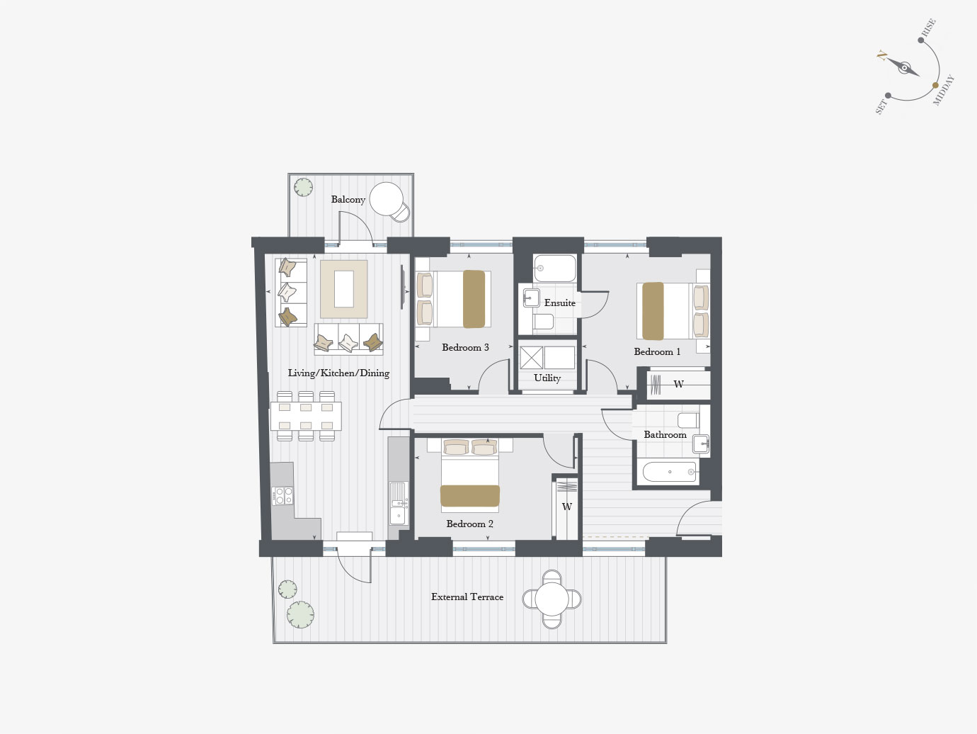 Floorplan for Apartment P1/01 at City Wharf, First